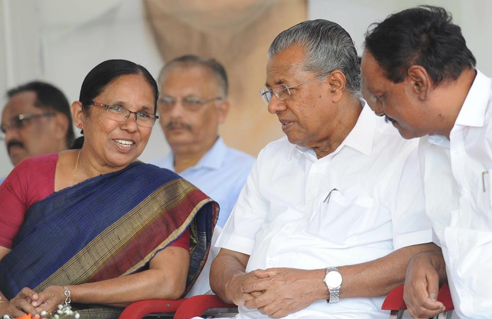 US Institute to honour CM and Health Minister For Curing Kerala ...